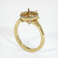 18K Yellow Gold Pave Diamond Ring Setting - JS159Y18