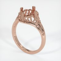 14K Rose Gold Ring Setting - JS16R14