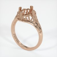 18K Rose Gold Ring Setting - JS16R18