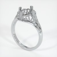 14K White Gold Ring Setting - JS16W14