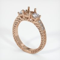 18K Rose Gold Pave Diamond Ring Setting - JS165R18