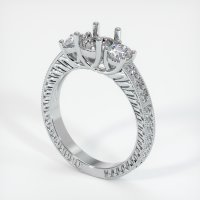 18K White Gold Pave Diamond Ring Setting - JS165W18