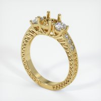 18K Yellow Gold Pave Diamond Ring Setting - JS165Y18