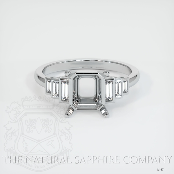 4 Prong Multi Stone Ring Setting JS167 Image 2