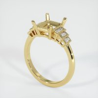 18K Yellow Gold Ring Setting - JS167Y18