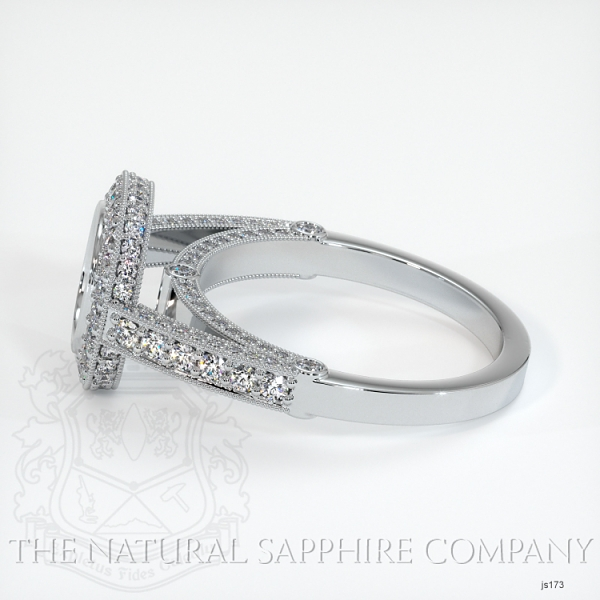 Bezel Set Pave Ring Setting JS173 Image 3