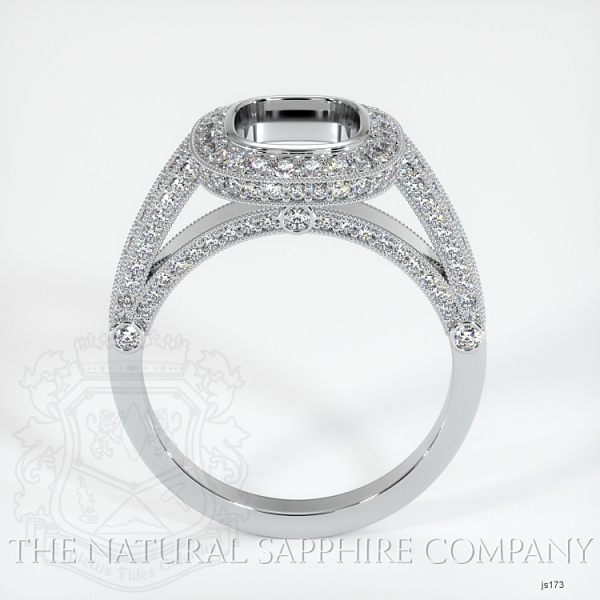 Bezel Set Pave Ring Setting JS173 Image 4