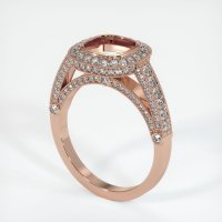 14K Rose Gold Pave Diamond Ring Setting - JS173R14