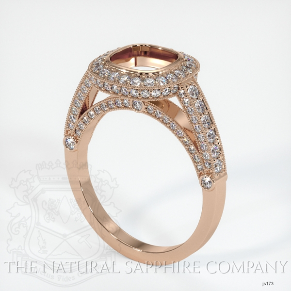 Bezel Set Pave Ring Setting JS173 Image