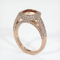 18K Rose Gold Pave Diamond Ring Setting - JS173R18