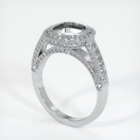 18K White Gold Pave Diamond Ring Setting - JS173W18