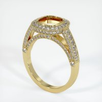 18K Yellow Gold Pave Diamond Ring Setting - JS173Y18