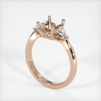 18K Rose Gold Ring Setting - JS174R18