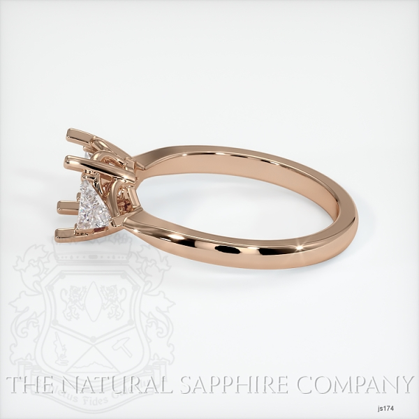 Three Stone Ring Setting - Trillion Diamonds JS174 Image 3
