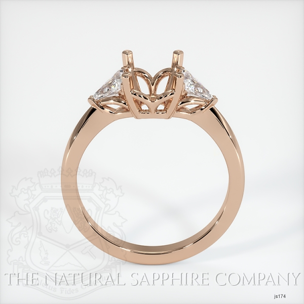 Three Stone Ring Setting - Trillion Diamonds JS174 Image 4