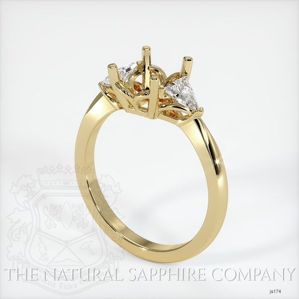 Three Stone Ring Setting - Trillion Diamonds JS174 Image