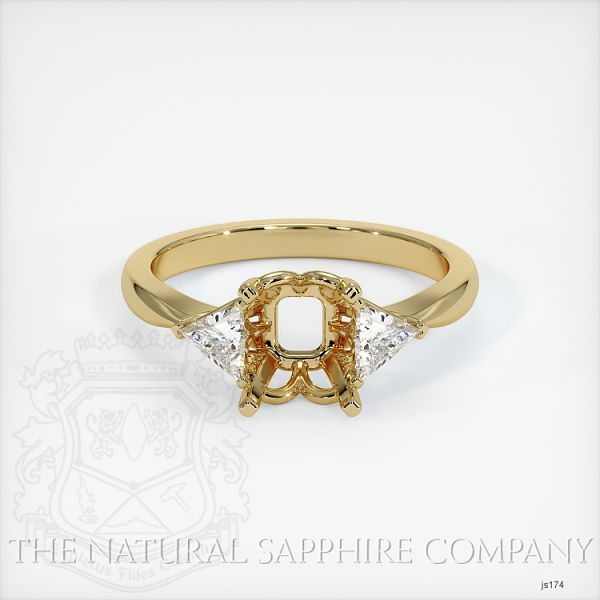 Three Stone Ring Setting - Trillion Diamonds JS174 Image 2