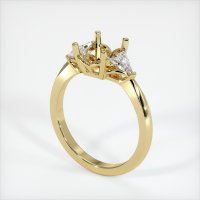 18K Yellow Gold Ring Setting - JS174Y18