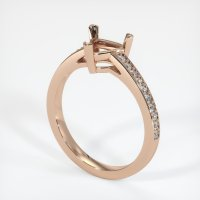 18K Rose Gold Pave Diamond Ring Setting - JS178R18