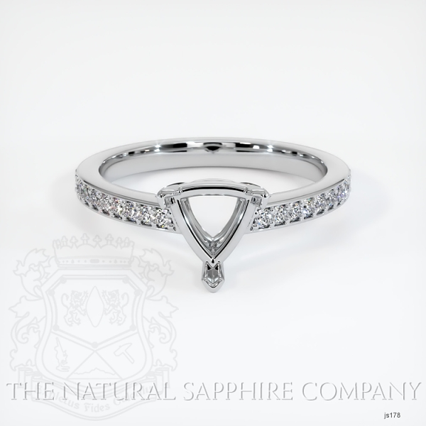 3 Prong Pave Ring Setting JS178 Image 2