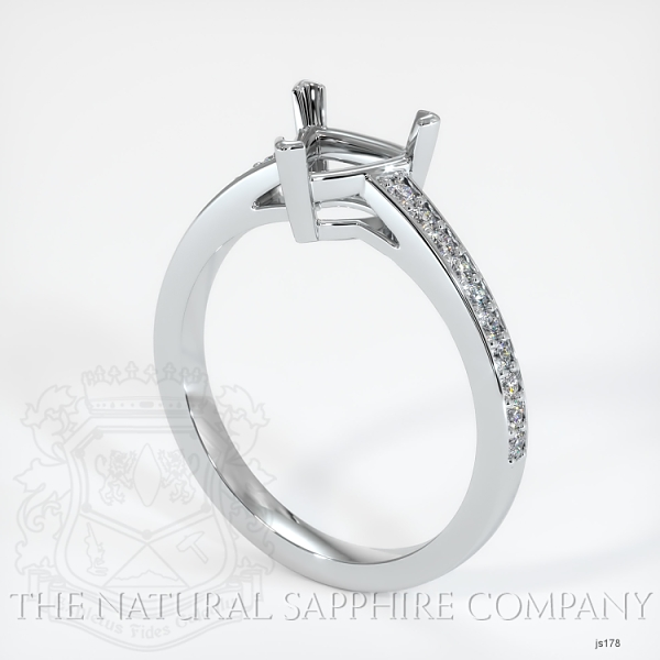3 Prong Pave Ring Setting JS178 Image