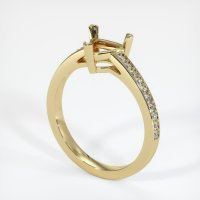 14K Yellow Gold Pave Diamond Ring Setting - JS178Y14