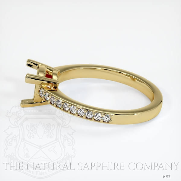 3 Prong Pave Ring Setting JS178 Image 3