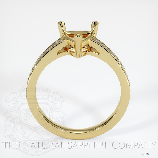 3 Prong Pave Ring Setting JS178 Image 4