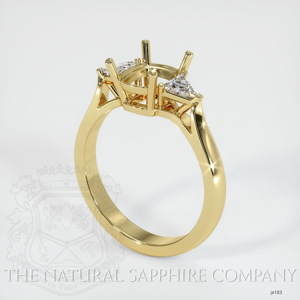 4 Prong Three Stone Ring - Trillion Diamonds JS183 Image