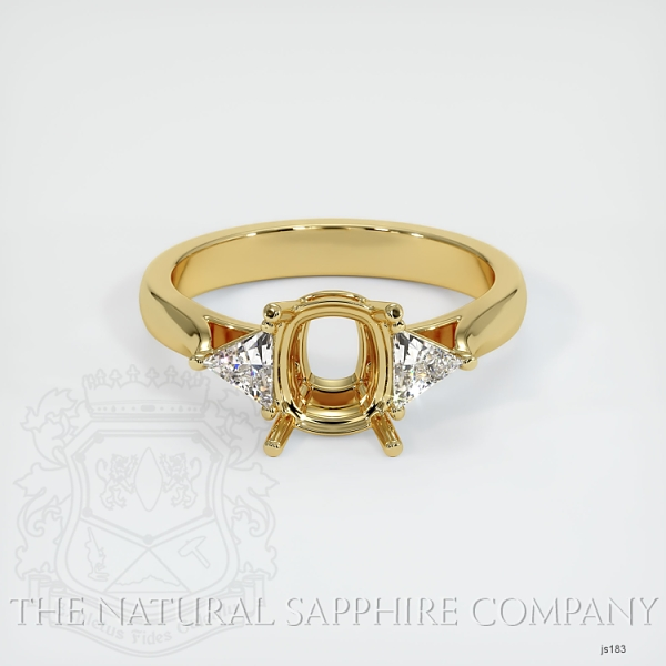 4 Prong Three Stone Ring - Trillion Diamonds JS183 Image 2