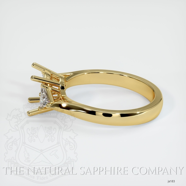 4 Prong Three Stone Ring - Trillion Diamonds JS183 Image 3