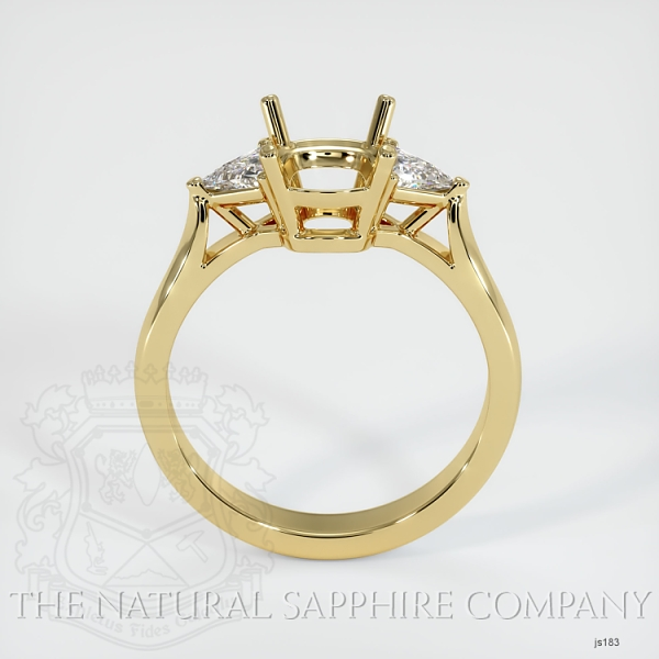4 Prong Three Stone Ring - Trillion Diamonds JS183 Image 4