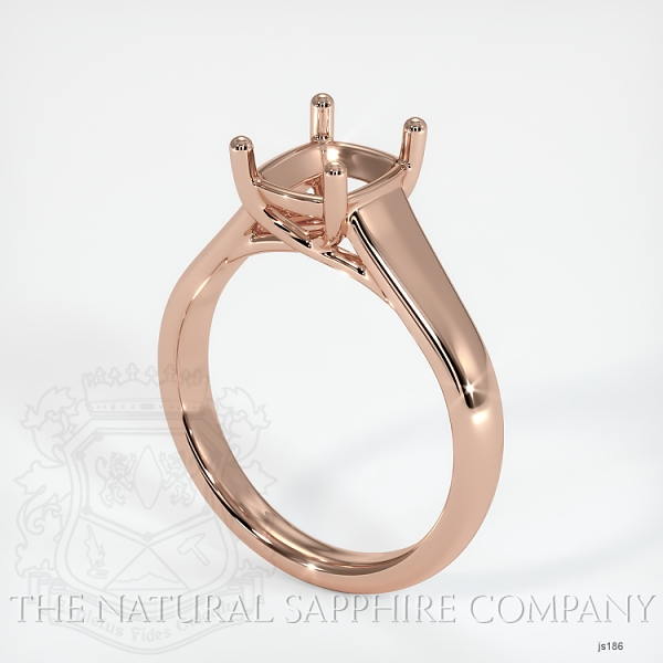 4 Prong Solitaire Trellis Setting - Wide Band JS186 Image