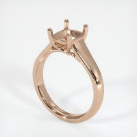 18K Rose Gold Ring Setting - JS186R18