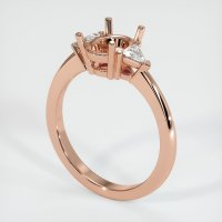 14K Rose Gold Ring Setting - JS190R14