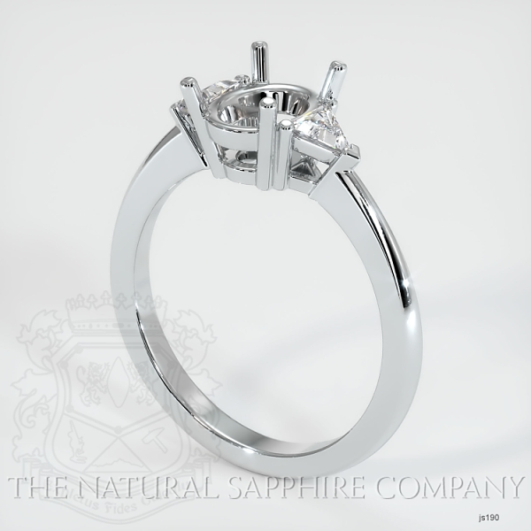 Three Stone Ring Setting - Trillion Diamonds JS190 Image