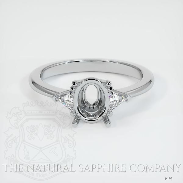 Three Stone Ring Setting - Trillion Diamonds JS190 Image 2