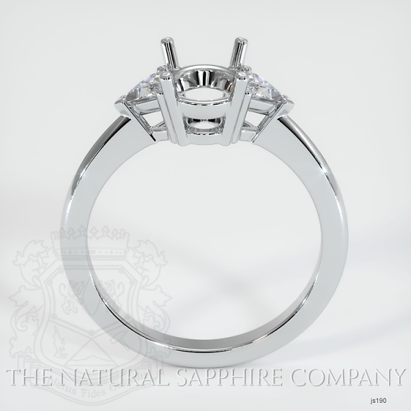 Three Stone Ring Setting - Trillion Diamonds JS190 Image 4