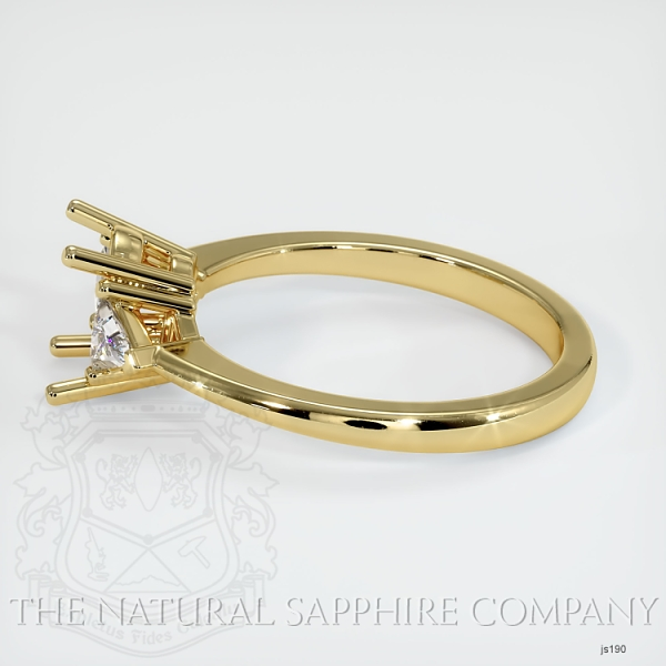Three Stone Ring Setting - Trillion Diamonds JS190 Image 3