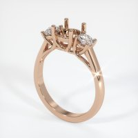 18K Rose Gold Ring Setting - JS192R18