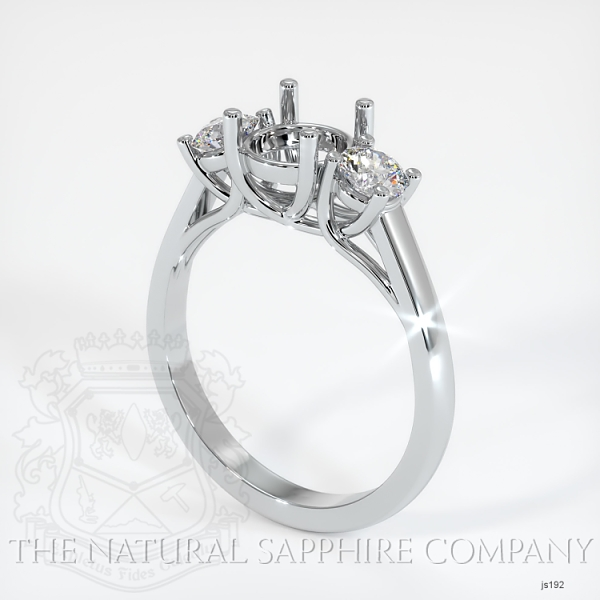 Trellis Three-Stone Ring Setting - Round Diamonds JS192 Image
