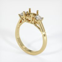 14K Yellow Gold Ring Setting - JS192Y14