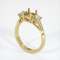 18K Yellow Gold Ring Setting - JS192Y18