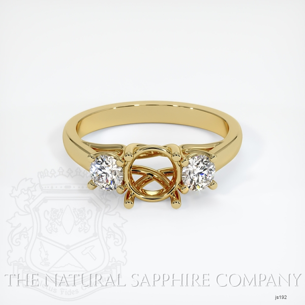 Trellis Three-Stone Ring Setting - Round Diamonds JS192 Image 2