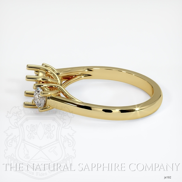 Trellis Three-Stone Ring Setting - Round Diamonds JS192 Image 3