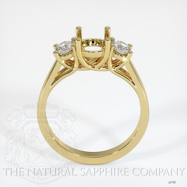 Trellis Three-Stone Ring Setting - Round Diamonds JS192 Image 4