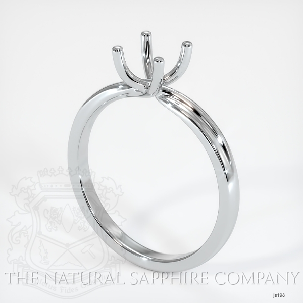 4 Prong Solitaire Ring Setting - Twist Style JS198 Image
