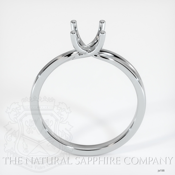 4 Prong Solitaire Ring Setting - Twist Style JS198 Image 4
