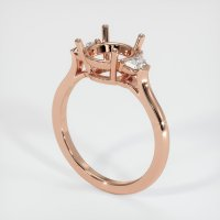 14K Rose Gold Ring Setting - JS205R14