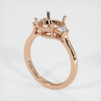 18K Rose Gold Ring Setting - JS205R18